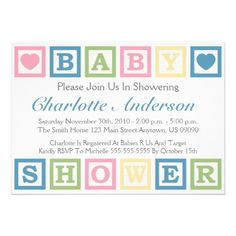 31 best baby shower invitations images on pinterest baby blocks building blocks baby shower invitiations blue invitation filmwisefo