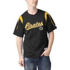 MLB Pittsburgh Pirates Men's Color Block Jersey, Size: XL, Yellow