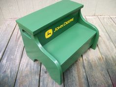 Childs Wood Step Stool (john Deere Green) (distressed)