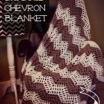 The Big Bold Chevron Blanket: free #crochet pattern for a fun summer weight blanket! From Mooglyblog.com