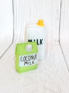 #FeltPlayFood #ToddlerGift #PretendShop #CoconutMilk