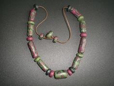 Se vi piace questa #collana in #fimo visitate la mia pagina facebook! #fimo pompeiana #necklace - if you like it write to me at https://www.facebook.com/ChiaraCreazioniInFimo?ref=hl
