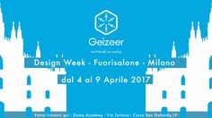 "Geizeer - Design Week -Fuorisalone-Milan    April 4-9, 2017.    You can find us at:  ""Dama Academy"", Via Tortona, Corso San Gottardo, 19.    #DesignWeek #Fuorisalone #Geizeer #idea3Di #Dama #Milano"