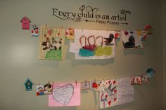 Childrens Art Display Cable System by BlackSquirrelFibers on Etsy, $39.00