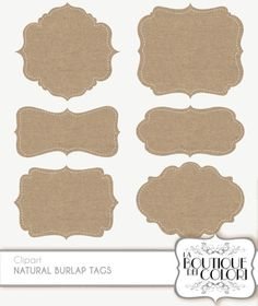 Clip Art Burlap Frames Labels tags Digital by LaBoutiqueDeiColori