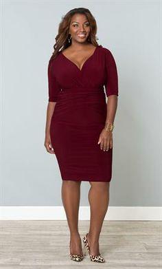 Victoria Draped Dress | Plus Size Dresses | OneStopPlus