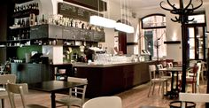 """(Trendy Coffee Shops) Located at the heart of the Chiado this modern and relaxed Viennese café serves traditional Austrian meals with local flavours, as """"Wiener Schnitzel"""" or the famous """"Sachertorte"""" (chocolate cake)."""