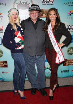 Human Nature, Chloe Crawford, Claire Sinclair, Kevin Burke, Ricardo Laguna and more at Glittering Lights VIP Event (Pictured: Chloe Crawford of FANTASY, Kevin Burke of Defending the Caveman and Lavetta Schneider, Mrs. Nevada America 2014 – Photo credit: Gabe Ginsberg / Vegas Kool).