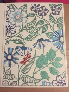 Secret Garden Postcards Colored With Smiggle Gel Pens Coloring BooksColouringGel