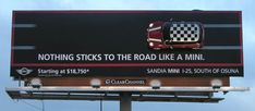 mini outdoor ads road