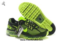 Black Green Mens Shoes Nike Air Max 2013 LG Hive Newest Now