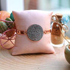 Custom Jewelry Design, Unique Jewelry, Swarovski Bracelet, Bangles, Bracelets, Adjustable Bracelet, Minimalist, Delicate, Bronze