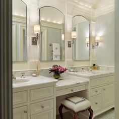Moulding Above Vanity Design, Pictures, Remodel, Decor and Ideas