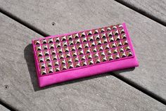 DIY: studded suede pouch