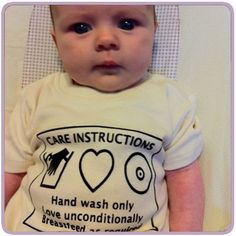 Care Instructions: Hand Wash Only | Love Unconditionally | Breastfeed as Required.