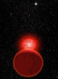 A pair of red dwarf and brown dwarf stars buzzed our solar system´s Oort Cloud 70,000 years ago, a close call of 0.8 light years. The pair is now about 20 light years away.  No other star is known to have approached our solar system this close – five times closer than the current closest star, Proxima Centauri.