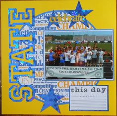 High School Scrapbook Ideas | ... cartridge on this page...love that cartridge for high school layouts