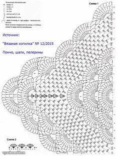 Crochet Table Runner Pattern, Crochet Doily Diagram, Crochet Edging Patterns, Crochet Flower Tutorial, Crochet Triangle, Crochet Flowers, Puff Stitch Crochet, Crochet Coat, Crochet Scarves