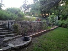 backyard ideas for gabion walls, concrete masonry, gardening, outdoor living