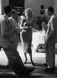 A rare photo of Marilyn at Ray Anthony's party, 1952