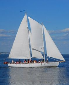 """Take a ride on the Schooner Woodwind! Their 2hr sailing cruises leave from the Annapolis Waterfront Marriott and is the same boat featured in the movie, Wedding Crashers!  Staying through the weekend? They have a """"Local Everything"""" dinner cruise on July 27th!  http://www.schoonerwoodwind.com/"""