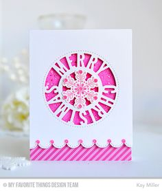 My Joyful Moments: MFT Merry Christmas Centerpieces Snowflake card by Kay Miller.