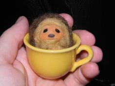 Another cup of Hedgehog tea anyone?? Wool and polymerclay
