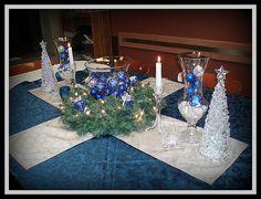 Resultado de imagem para decoração de natal prata e azul
