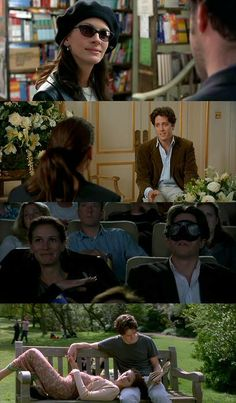 Notting Hill - Hugh Grant, Julia Roberts - Nice romantic comedy with a very predictable story line and yet one looks forward to the next scene. Beau Film, Notting Hill Movie, Notting Hill Quotes, Hugh Grant Notting Hill, Love Movie, Movie Tv, Chick Flicks, Romance Movies, About Time Movie