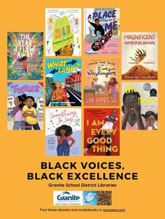 Posters and Collections: Black Voices, Black Excellence in Granite's Sora – Granite Media Library Posters, Student Numbers, Fantasy Fiction, Sora, Black History Month, Book Lists, Granite, Science Fiction, The Voice