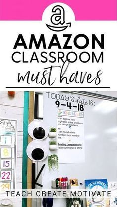 If you know me, you know all things Amazon for the classroom is my jam! So I'm sharing some of my latest must-haves from Amazon for teachers this school year! This includes everything from disco balls to magnetic hooks! I'm also sharing ideas and tips for how to use the items to save you time, energy, and keep you organized!