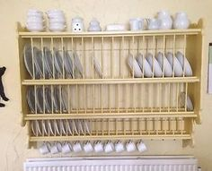 Wall hung plate rack for above the kitchen sink. So EURO!