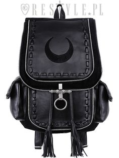 Black crescent backpack