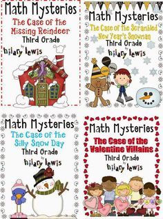 Get your 3rd graders practicing math skills without even knowing they are learning! These math mysteries are similar to the 'choose your own adventures' books of old... only kids have to figure out the answer to continue through the story! #Rockin' Teacher Materials http://www.rockinteachermaterials.com