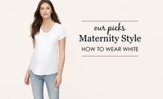 How to Dress Your Bump in White - #maternity #style |  Project Nursery