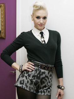 I would love to be an entrepreneur like her. I like her style it's similar to mine. Classy never trashy. one of the few that designed and made her own clothes before she was famous a lot of other celebs have a line but didn't bother to make something or design anything before they got famous. I admire that about Gwen it makes her unique. She's a trendsetter not a follower.