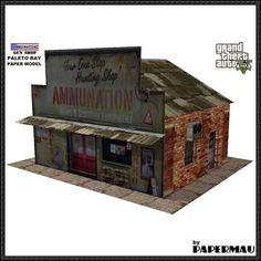 GTA V - Ammu-Nation Gun Shop Ver.2 Free Paper Model Download - http://www.papercraftsquare.com/gta-v-ammu-nation-gun-shop-ver-2-free-paper-model-download.html