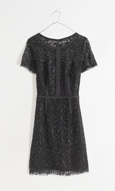 Super cute black lace dress. Can you say NYE party? Madewell