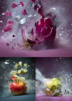 Martin Klimas' exploding fruits & vegetables