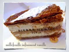 A millefeuille, which means 'thousand-leaf', is a French pastry French Patisserie, Artisan Cheese, Fresh Apples, French Pastries, Sweet Desserts, Paris France, Annie, Stuffed Mushrooms, Cake