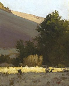 Yakima Canyon Evening, 10 x 8 inches, oil on panel