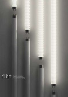 Flexible Fluorescent Bulbs - The D'light from H_design is Strong and Malleable (GALLERY)