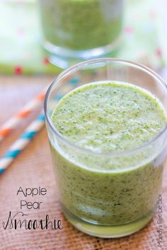 This Apple Pear Smoothie is a delicious mixture of fruit and spinach. You will never taste the spinach, just the refreshing apples and pears!