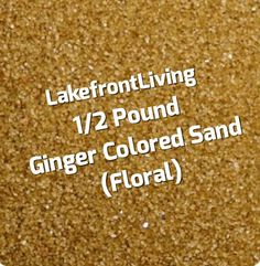 Brown Sand for Unity Sand Ceremony Ginger by LakefrontLiving Unity Sand, Sand Ceremony, Colored Sand, Brown, Floral, Etsy, Diy Colored Sand, Flowers, Brown Colors