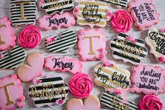 Kate spade cookies . Birthday cookies . Girly cookies