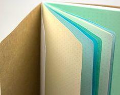 Multi-color Rainbow Traveler's Notebook Insert by YellowPaperHouse