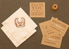 Oh So Beautiful Paper: DIY Tutorial: Western Reception Wedding Details, Part II