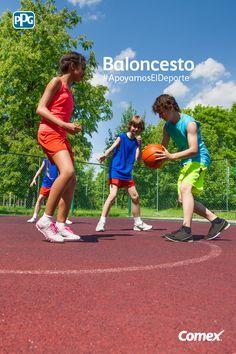 Ponle color a tu día practicando baloncesto, uno de los deportes de equipo más divertidos. #ApoyamosElDeporte #Comex #ComexLATAM #Colorful #Equipo #Team #Colors #Colores #Sport #Ball #Fun #Diversion
