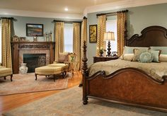 traditional-bedroom-wood-furniture-master-design - Home Decorating Trends - Homedit