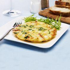 Omelette aux pommes de terre, aux épinards  et aux tomates séchées